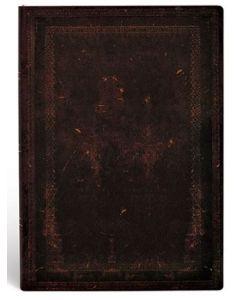 Black Moroccan Bold - Midi size Flexi Lined Journal