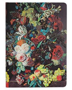 Van Huysum Still Life Burst - Midi size Lined Journal