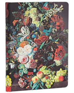 Van Huysum Still Life Burst - Midi size Lined Journal
