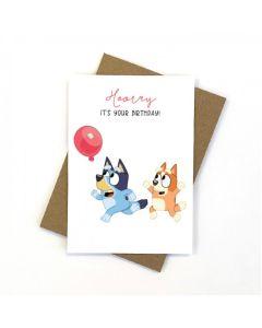 Birthday Card - Bluey & Bingo