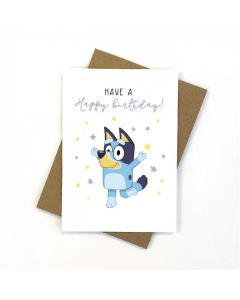 Birthday Card - Bluey & Stars