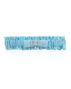 Blue Satin Garter