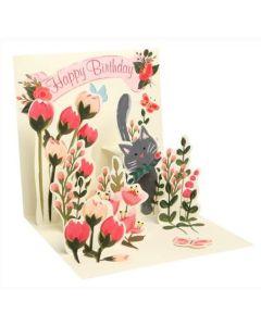 Botanical Cat - 3D pop-up card