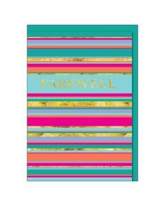 'Farewell' Bright Stripes BIG Card