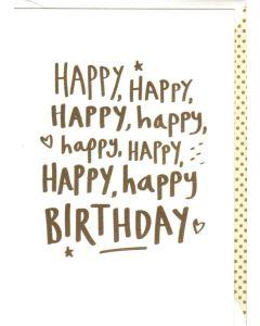 Birthday Card - Happy Happy Happy