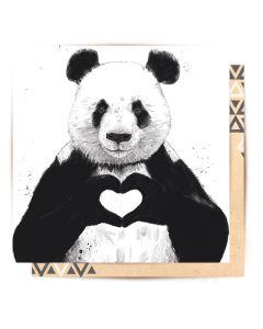Greeting Card - Love is All You Need (Panda)