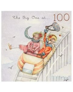 100th Birthday - Women on rollercoaster