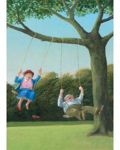 Swinging couple - card