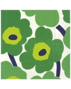 Paper Napkins - Marimekko UNIKKO Green (pack of 20)