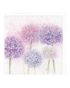 Greeting Card - Pastel Alliums