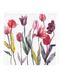 Greeting Card - Autumn Tulips