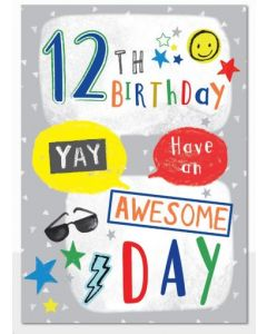 AGE 12 Card - Awesome Day