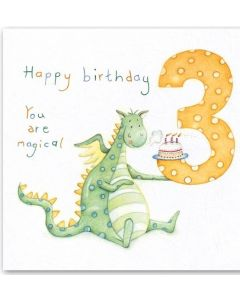 Age 3 - Magical Dinosaur with cake