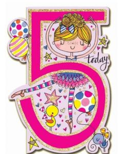 AGE 5 Birthday - Ballerina Pink