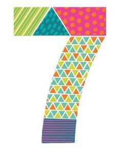 AGE 7 - Colourful '7'