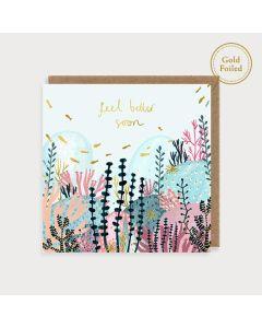 FEEL BETTER card - Coral reef 'Feel better soon'