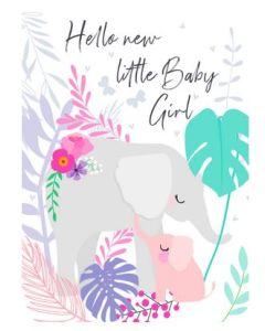 BABY Girl - Sweet elephants