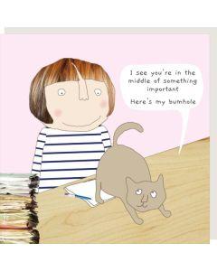 Greeting Card - Cat Bum