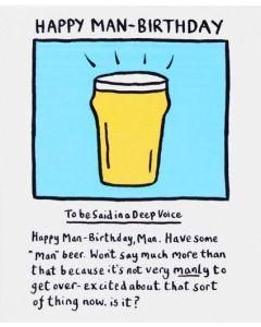 Birthday - 'Man-birthday' beer