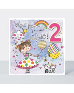 AGE 2 - Girl with balloons