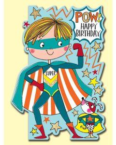 Birthday - POW Superhero & dog