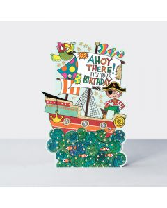 Birthday - 'Ahoy there' Pirate ship