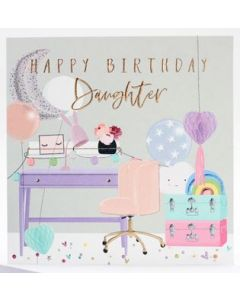 Daughter Birthday - Pretty desk, chair & cases