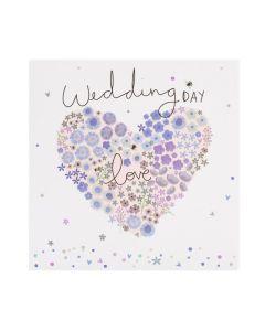 WEDDING card - Wedding day love, heart