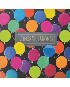 Congratulations - Colourful Foil Balloons