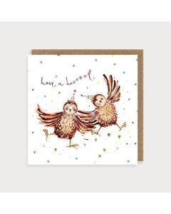 Birthday Card - Owls have a hoot