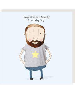 Birthday Card - Magnificent Beardy Birthday Boy