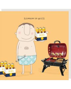 Greeting Card - Licence to Grill