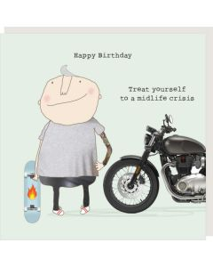 BIRTHDAY card - Midlife Crisis