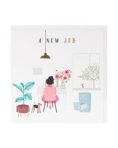 New Job - Woman at desk