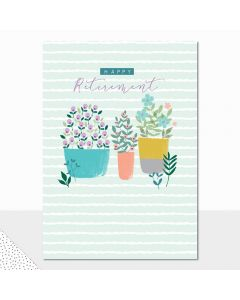 RETIREMENT Card - Flower Pots