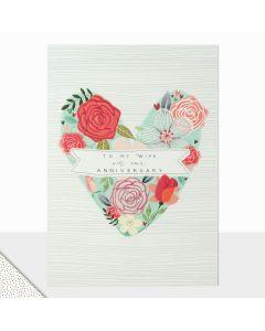Wife Anniversary - Flower heart