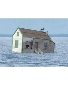 Sinking House Card