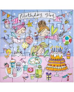 Jigsaw Card - Birthday Girl Party