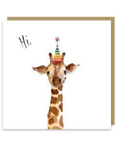 'Hi' - Giraffe in hat