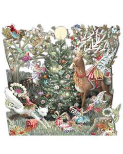 Forest Fairies - Zig-zag Christmas card