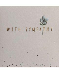 Sympathy - 'With Sympathy' Flower