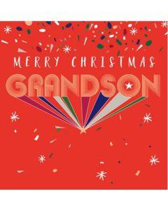 GRANDSON Christmas - 'GRANDSON' on red