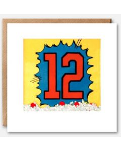 AGE 12 - Bold '12' with sprinkles