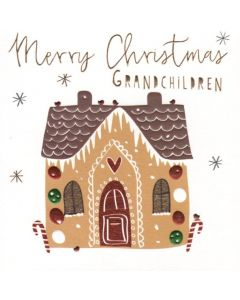 Christmas Card - GRANDCHILDREN (Gingerbread House)