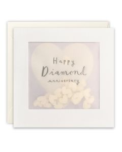 Diamond Anniversary - Heart confetti window