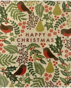 Christmas pack - Robin pattern (pack of 5)