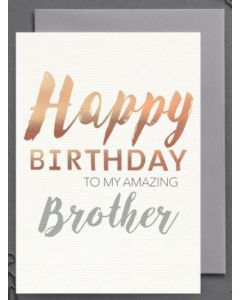 Brother Birthday - 'Amazing Brother'