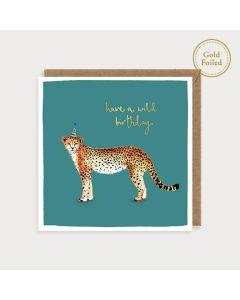 Birthday Card - Wild Birthday Cheetah