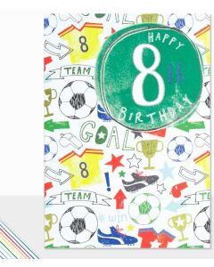 AGE 8 Card - Soccer Star
