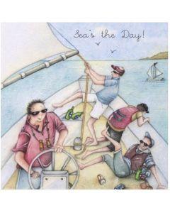 Seas the Day- Sailing card